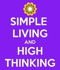 100 words essay on simple living high thinking gandhi